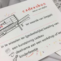 webwinkel cadeaubon